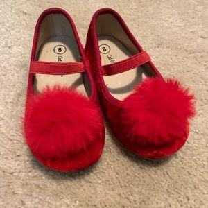 Red Velvet Dress Shoes Girls sz 8